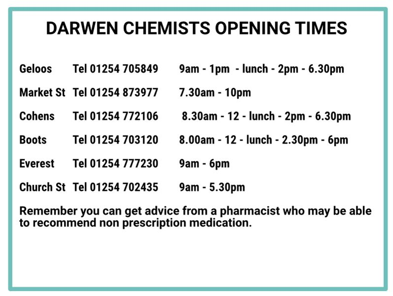 Chemist Opening Times
