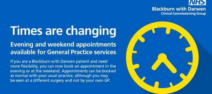 Evening and Weekend GP and Nurse  Appointments